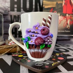 ЧАША BLUEBERRY CUPCAKE HOT COCOA