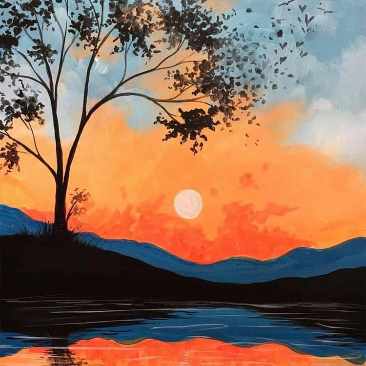 картина портокалов залез