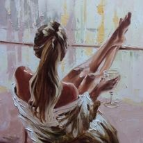 """Картина """"С вино в ръка"""""""