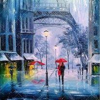 """Картина """"Дъждовен Париж"""""""