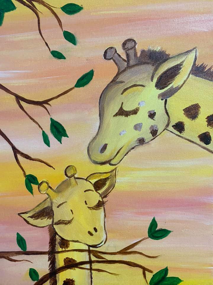 """Рисуваме с децата """"Жирафи"""""""