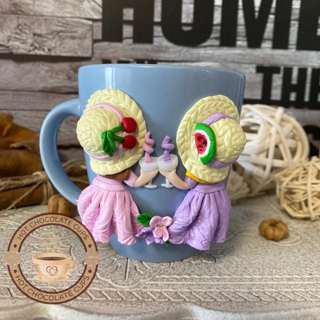 """Декорация на чашка """"Време за коктейл"""""""