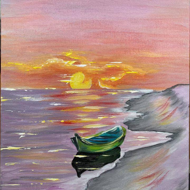 """Картина """"July Morning"""" на чаша вино"""