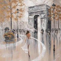 """Картина """"Забързаният Париж"""""""