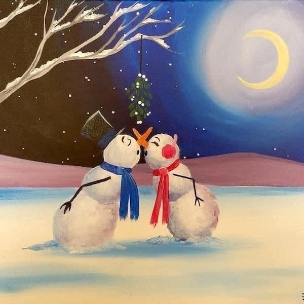 """Картина """"Снежна целувка"""""""